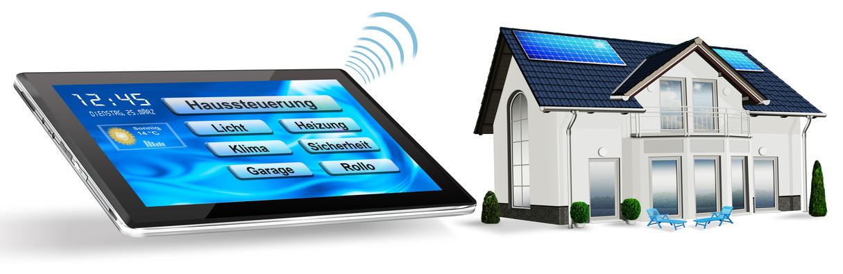 Automatische Haussteuerung mit Tablet PC und Wohnhaus, freigeste
