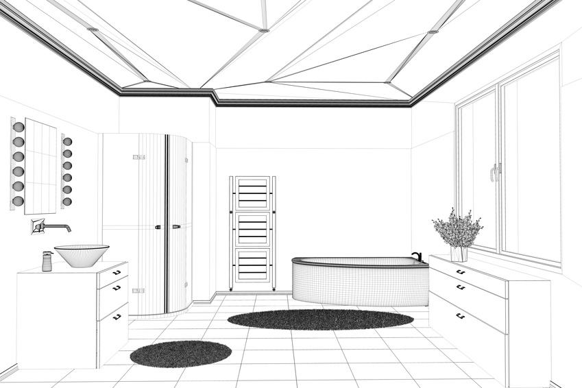 Badplanung mit CAD Modell